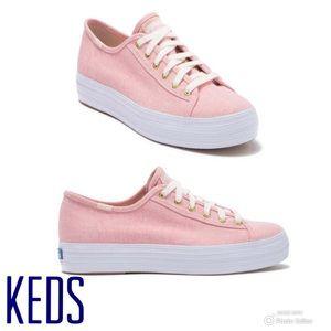 Keds Triple Kick Chambray Platform Sneaker